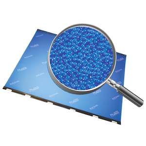 Blue Glass Anti-Marking Jacket with Magnified Glass Beads